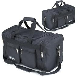 "18"" & 22"" Inch Duffle Bag Black Carry on Suitcase Lightweigh"