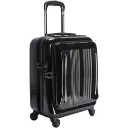 18 inch Business Wheels/Rolling Carry-On, Black Luggage Trav
