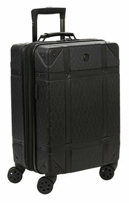 """SWISSGEAR 19"""" Black Trunk Expandable Carry On Spinner Luggag"""