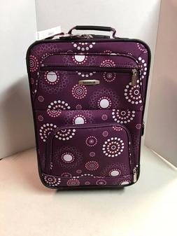 *ROCKLAND 19 Inch Purple Pearl CARRY-ON ROLLING LUGGAGE Exte