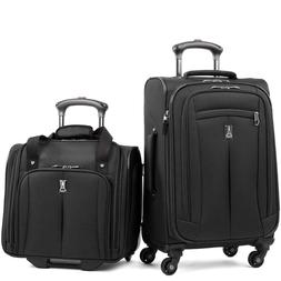 Travel Pro 2 Piece Carry-On Luggage Set in Black