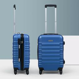 """20"""" ABS Carry On Luggage Hardside Nested Spinner Trolley Tra"""