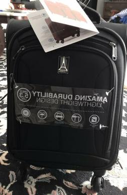 22 expandable carry on spinner black lightweight