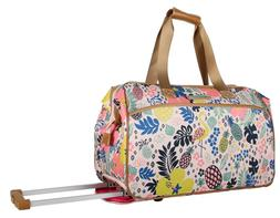 Lily Bloom 22 Inch Designer Carry On Luggage - Satchel Wheel