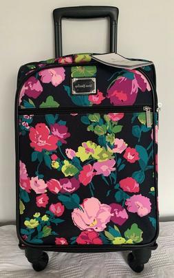 "Vera Bradley 22"" Spinner Rolling Luggage Hilo Meadow Wheeled"