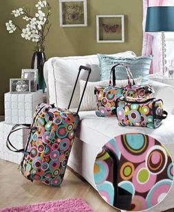 3 PC Overnight Suitcase Rolling Luggage Set Travel Wheels Du