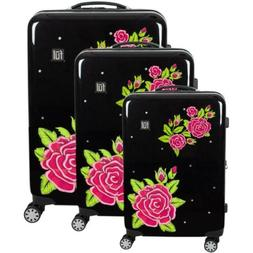3 Piece Luggage Suitcase Set Hard Sided Travel ABS Plastic P