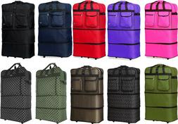 """30""""/36""""/40"""" Expandable Rolling Duffel Bag Wheeled Spinner Su"""