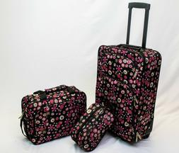 in2it 3pcs travel luggage set 20in carry on + Tote + Travel
