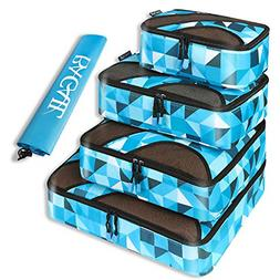 4 Set Packing Cubes,Travel Luggage Organizers with Laundry B