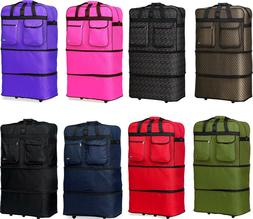 """40"""" XXL Expandable Rolling Duffel Bag Wheeled Spinner Suitca"""