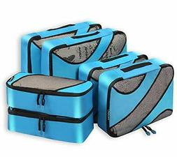 Bagail 6 Set Packing Cubes,3 Various Sizes Travel Luggage Pa