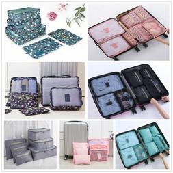 7 Set Packing Cubes Travel Luggage Organizer Bags Waterproof