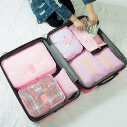 7Pcs/Set Travel Storage Bags for Clothes Luggage Packing Cub