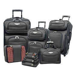 Amsterdam 4 Piece Two-Tone Travel Set - Color: Red