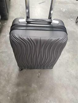 """Cabin size 20"""" luggage carryon luggage black with USB/factor"""