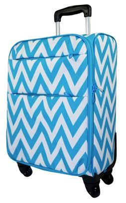 Chevron Carry On Spinner Luggage Suitcase Rolling Wheeled Li