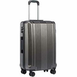 Coolife Luggage Expandable Suitcase PC+ABS with TSA Lock Spi