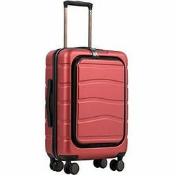 COOLIFE Luggage Suitcase Carry On 100%PC Spinner Trolley wit