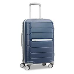 Expandable Hardside Luggage with Double Spinner Wheels Navy