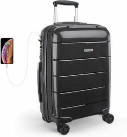 REYLEO Expandable Luggage 20 Inch PP Carry on Luggage Travel