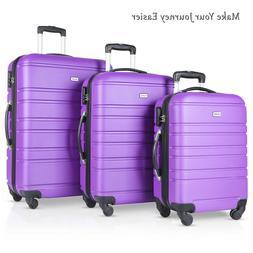3 PCs Hardside Travel Luggage Sets Spinner Wheels Suitcase 2