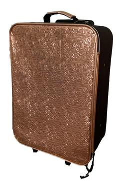 Justice Girls Metallic Gold Carry On Luggage Roller Bag Roll
