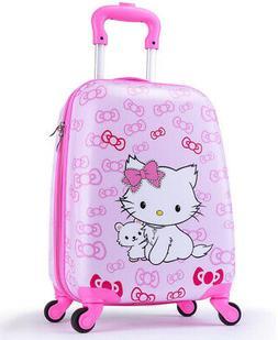 Girls Suitcase Hardshell Spinner Wheels - Kids Luggage 18 in