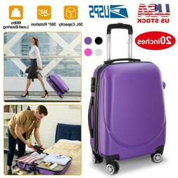 20 carry on travel luggage lightweight rolling