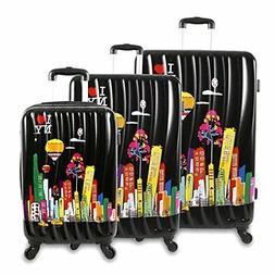 ilny cityscape ii 3 piece luggage set