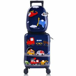 iPlay, iLearn Kids Rolling Luggage Set, 18'' Hard Shell Carr