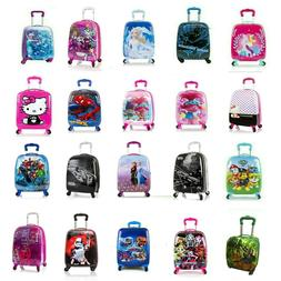 kids hard side carry on spinner luggage