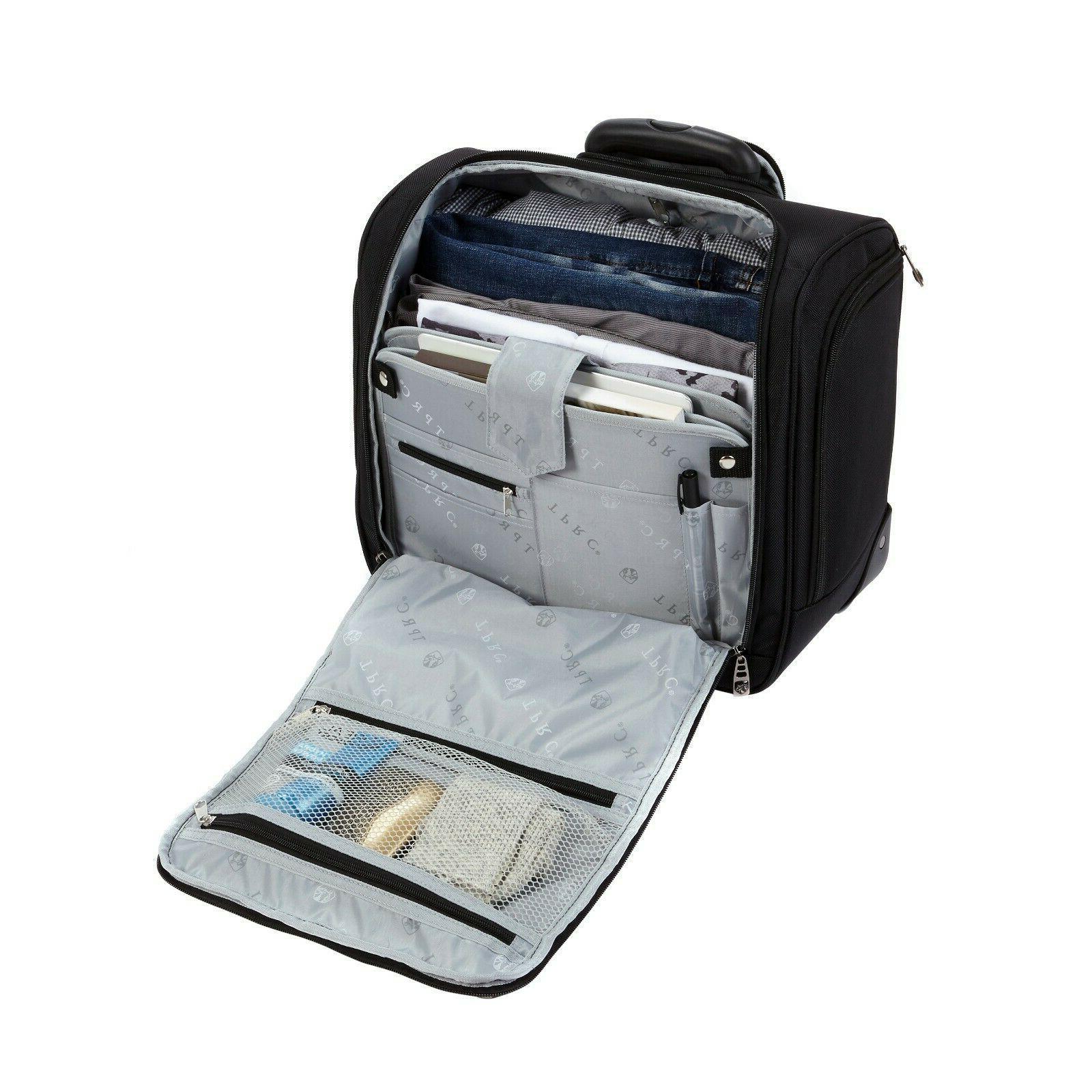 16 Luggage Rolling Wheels Seat Black NEW