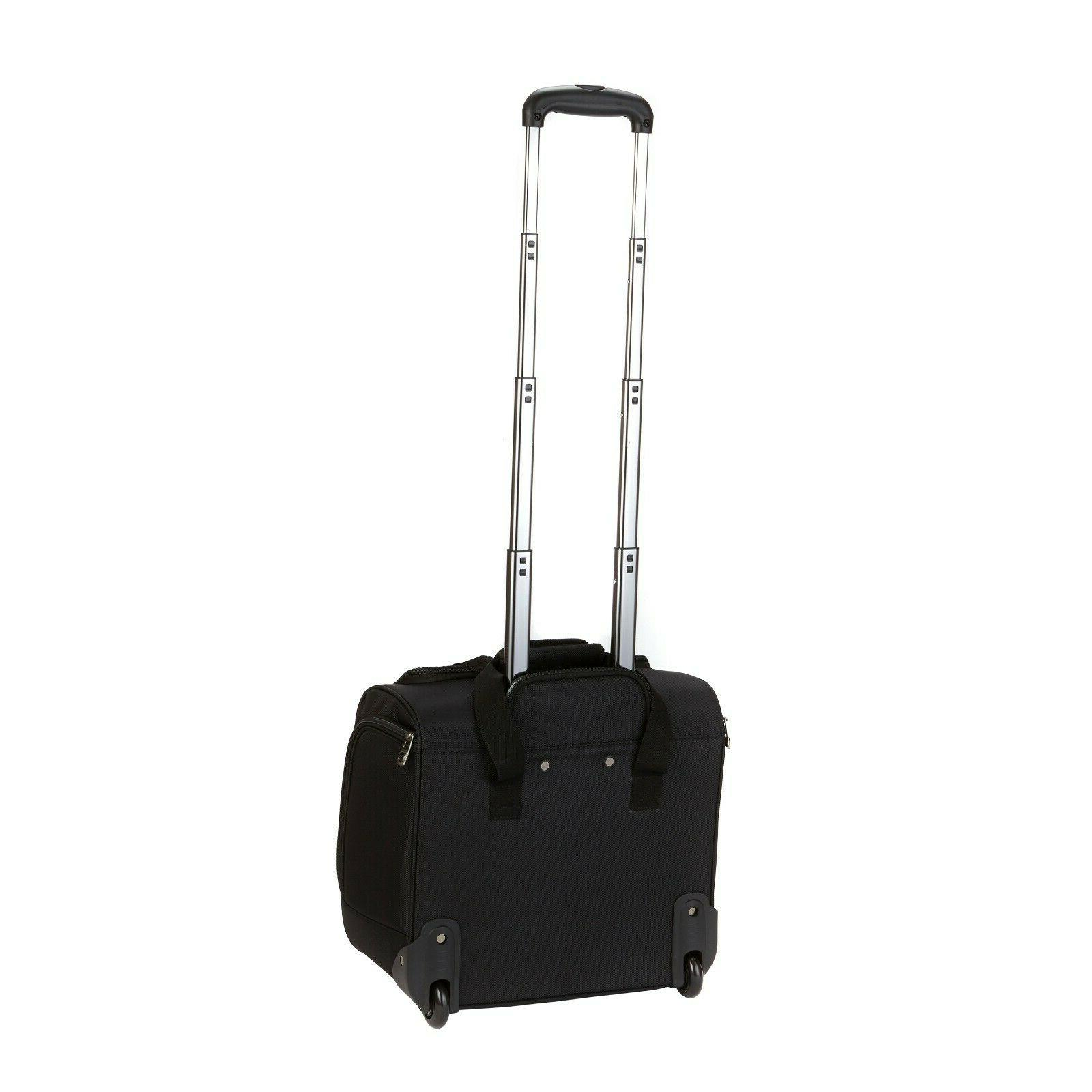 16 Inch Carry Luggage Rolling Travel Wheels Black NEW