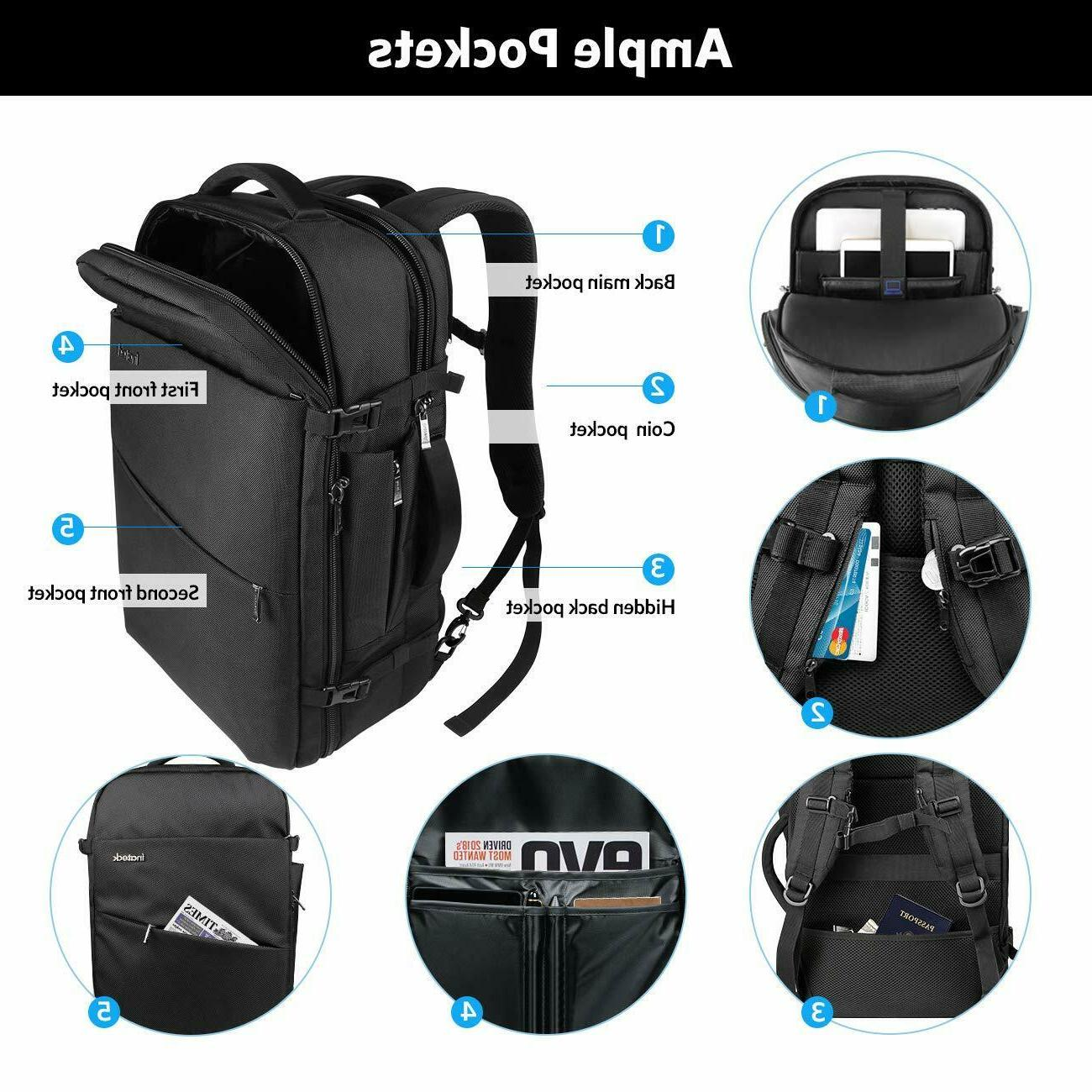 Inateck 40L Backpack, Flight Approved Carry-On Backpack