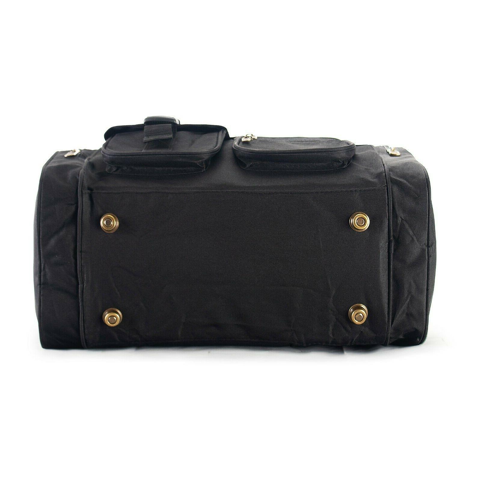 "19"" Inch Black Carry on Suitcase Lightweight Shoulder"