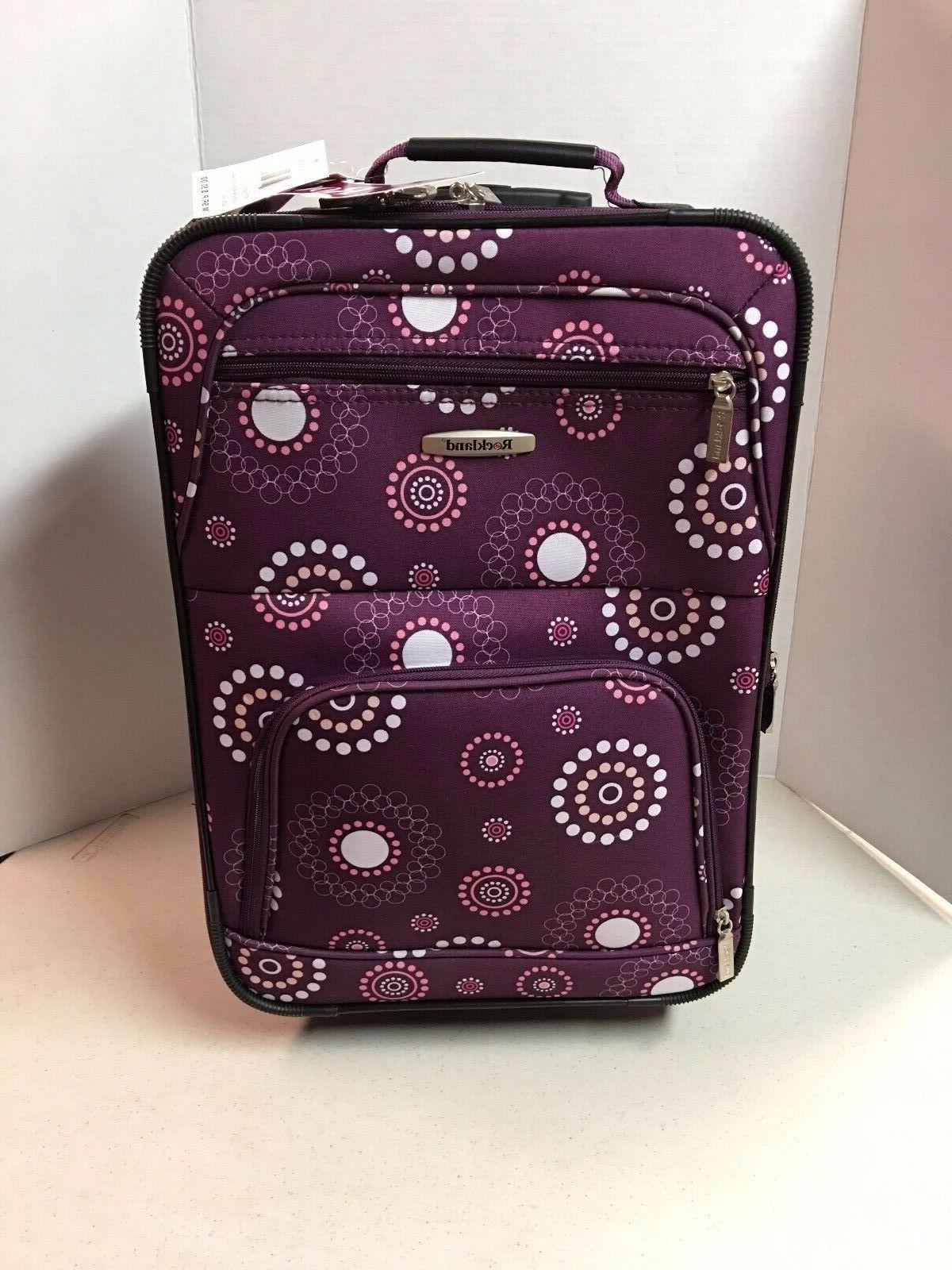 19 inch purple pearl carry on rolling