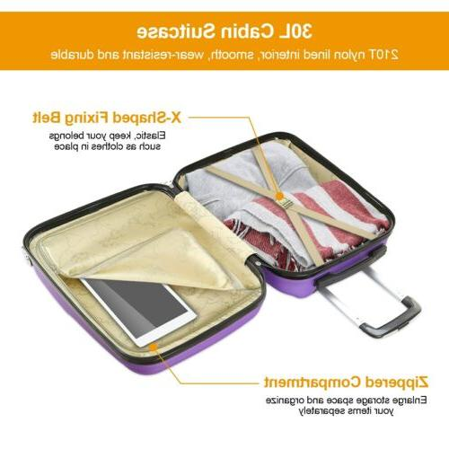 "20"" Luggage Lightweight Hard Shell Portable New"