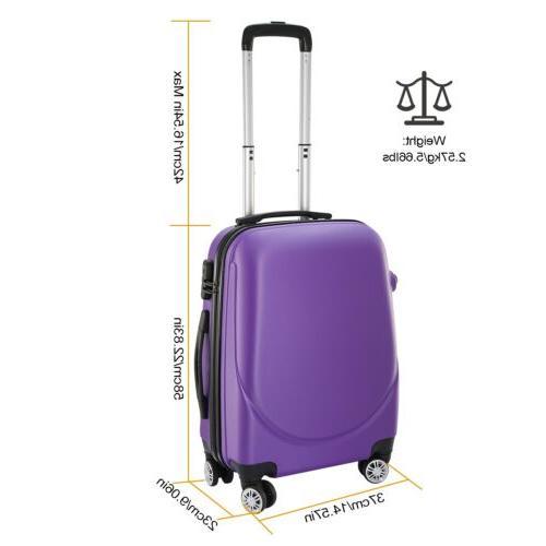 "20"" Carry on Travel Luggage Lightweight Hard"
