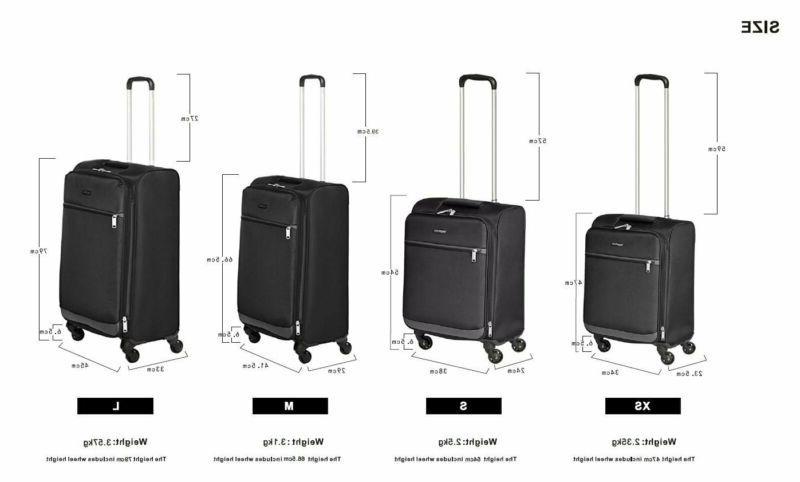 AmazonBasics Carry-On Spinner Suitcase Set -