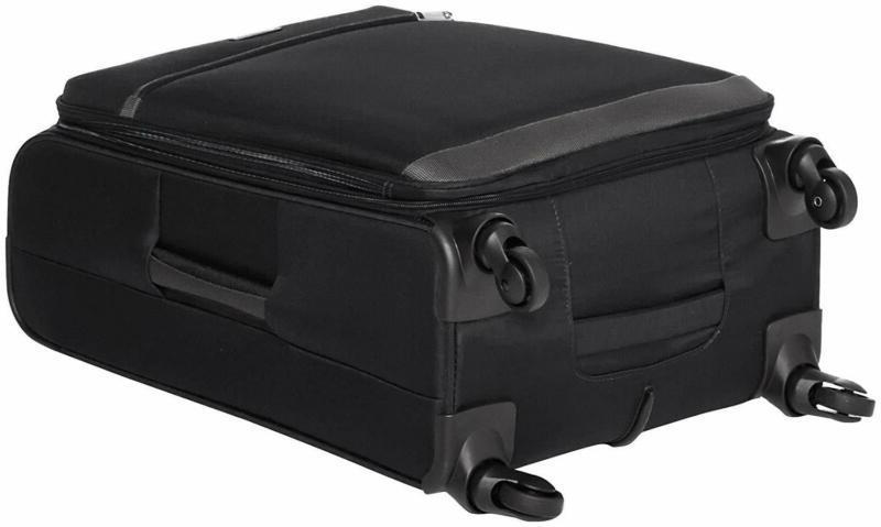 AmazonBasics 3 Carry-On Spinner Luggage Suitcase Set - Black