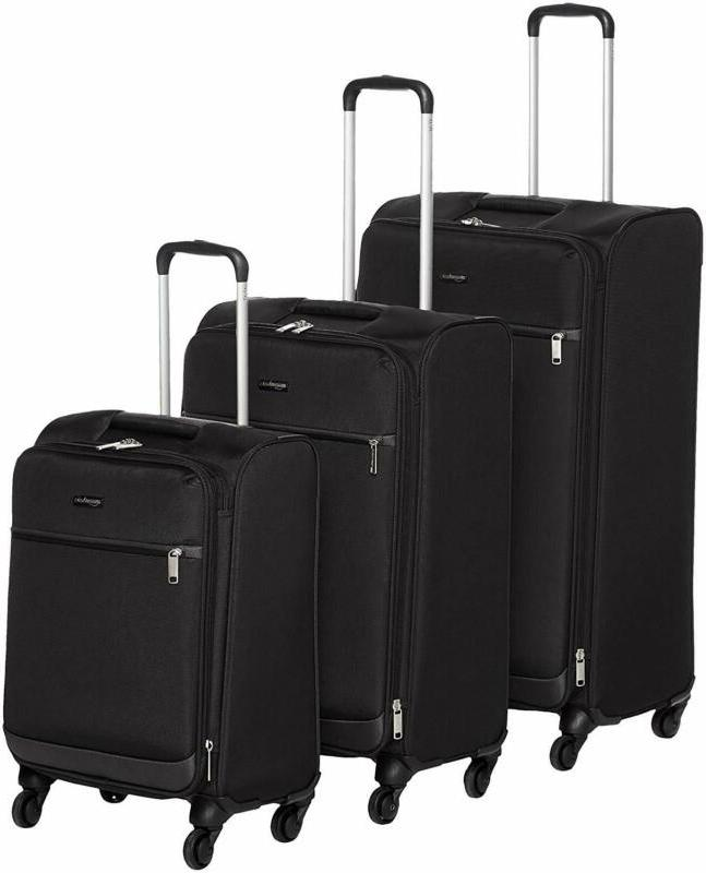 3 piece softside carry on spinner luggage