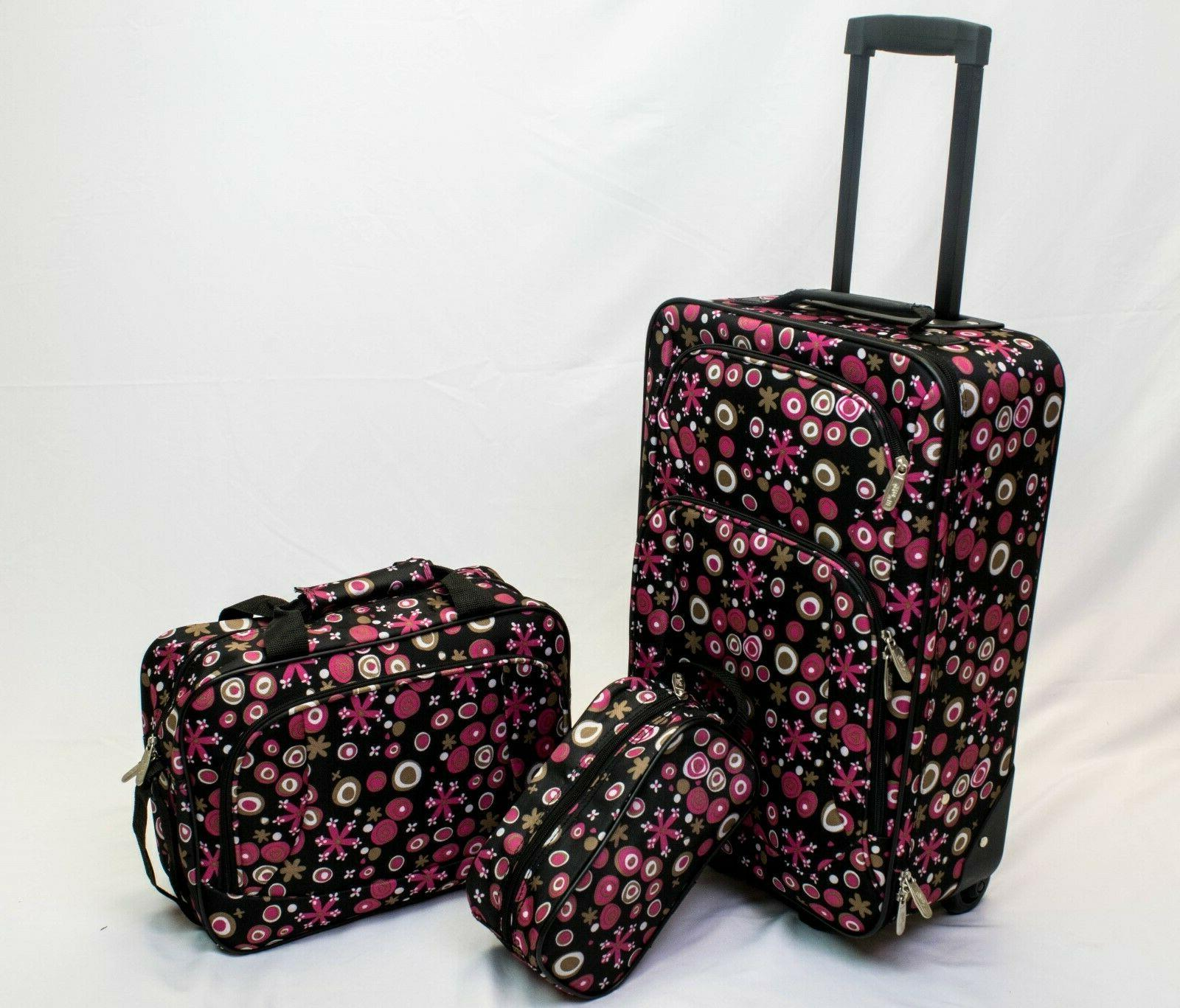 3pc travel luggage set 20in carry on