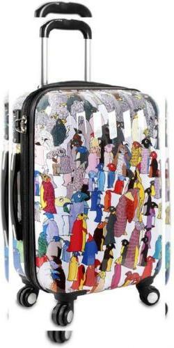 J World New York Art Polycarbonate Carry-on Luggage, Penguin