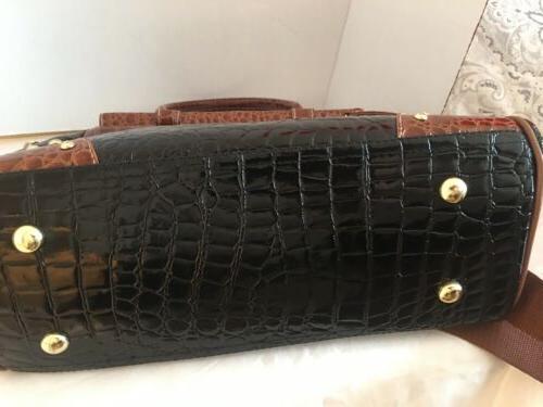 Samantha Brown Croc Patent Travel Bag On Luggage