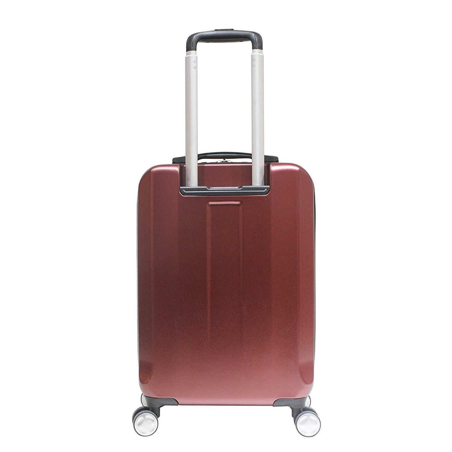 """Exzact luggage/Carry-on 20""""/ hard Front Red"""