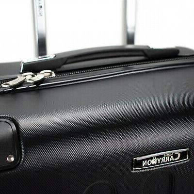 Carry-On Shell Luggage Expandable Combination Black