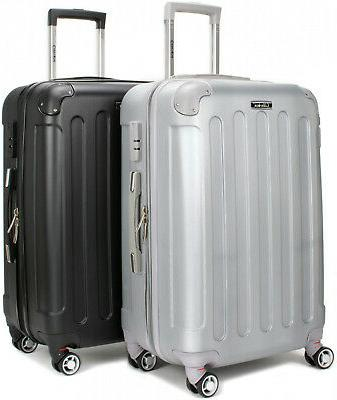carry on hard shell spinner luggage expandable