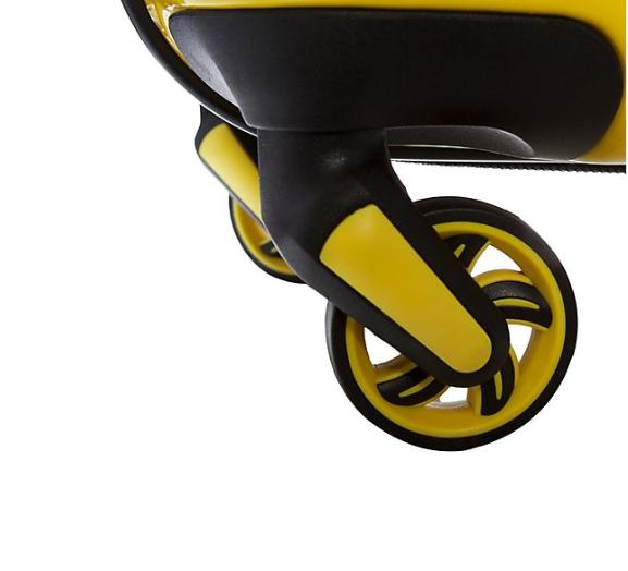 Peace Hardside Luggage-Yellow/Happy-NEW-F13594