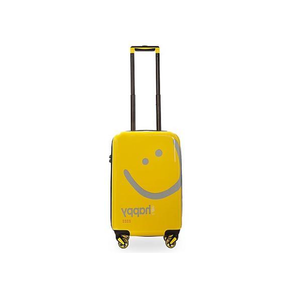 carry on hardside luggage yellow happy new